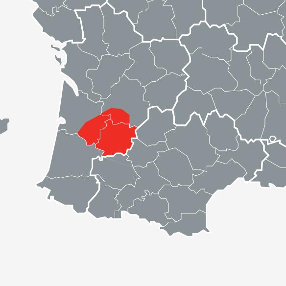 Nettoyage des parties communes dans le Lot-et-Garonne: Map intervention